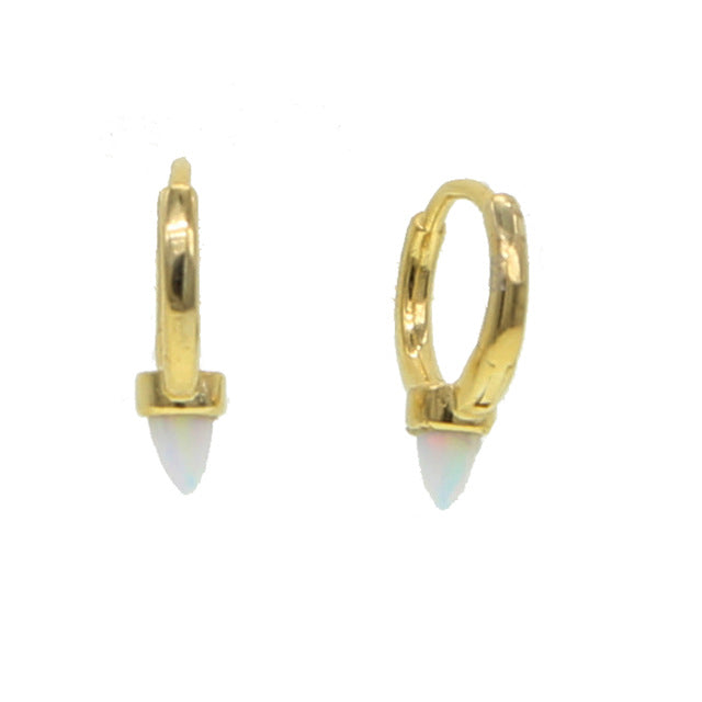 GENEVA HUGGIE HOOP EARRINGS