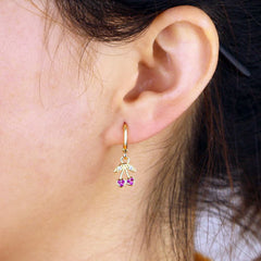 ANAHEIM HUGGIE HOOP EARRINGS