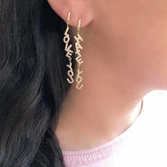 JOAQUIN HUGGIE DROP EARRINGS