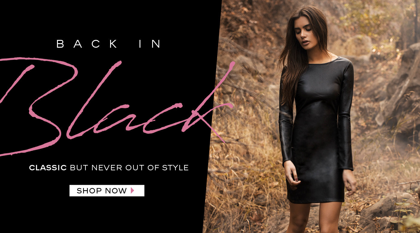 BACK IN BLACK: Classic black outfits are never out of style