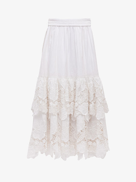 CAPITOLA EMBROIDERED LACE SKIRT