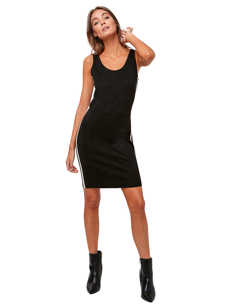 LBC Vegan Suede Dress
