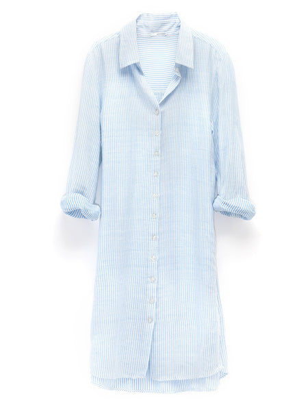 Spring Stripe Shirtdress