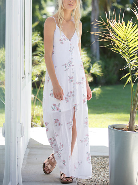 Lost In Paradise Button Up Dress