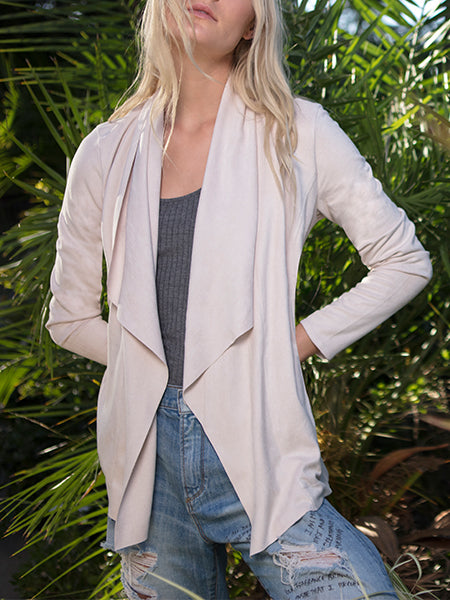 Waterfall Vegan Suede Jacket