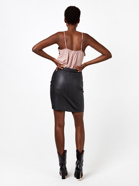 Sierra Vegan Leather Skirt
