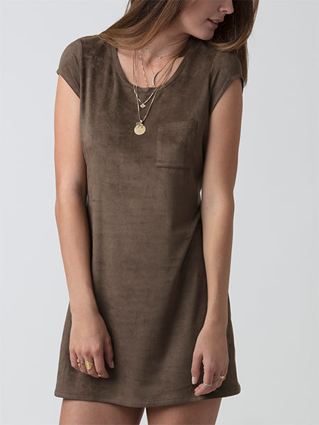 Sierra Vegan Suede Tee Dress