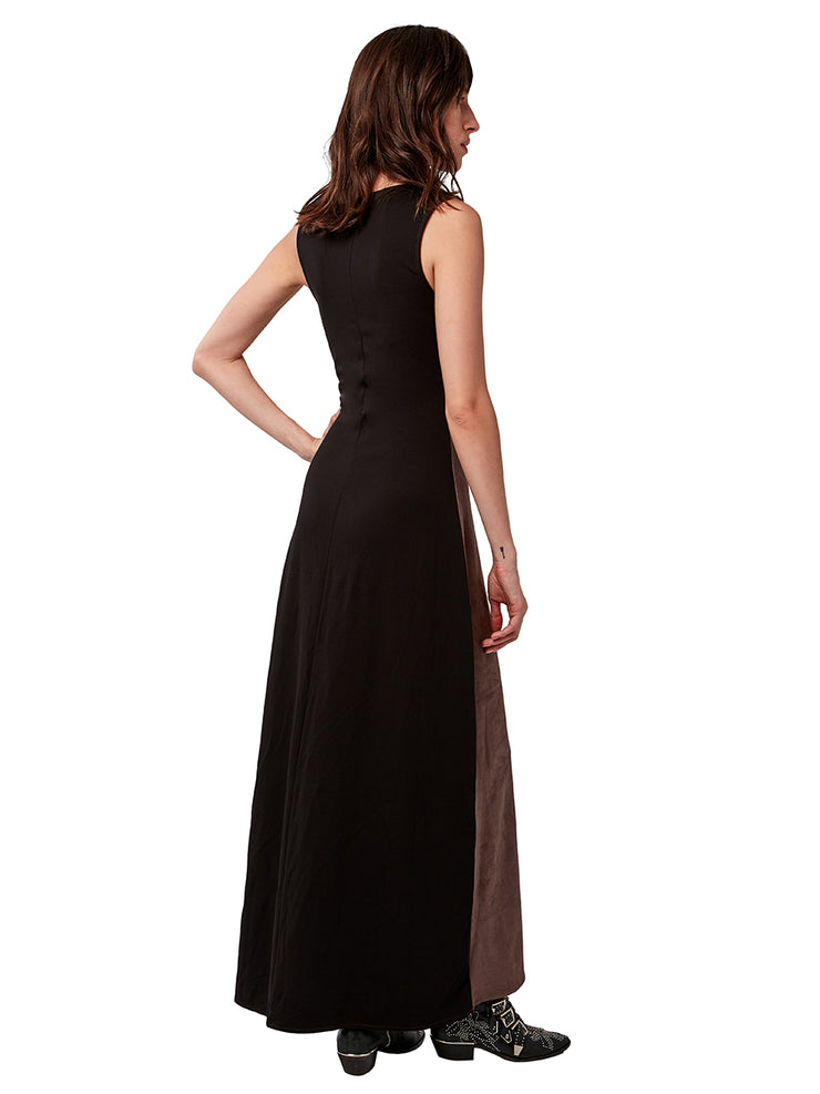 Fifteen Vegan Suede Maxi Dress