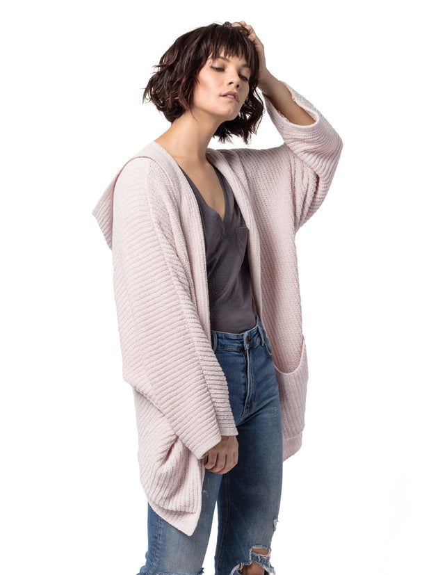 Half Moon Bay Hooded Cardi