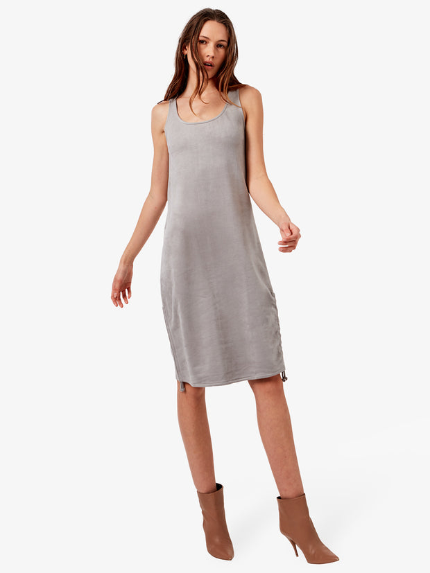 Zoe Vegan Suede Easy Dress