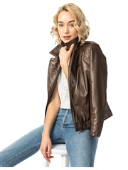Cafe Vegan Moto Layered Jacket