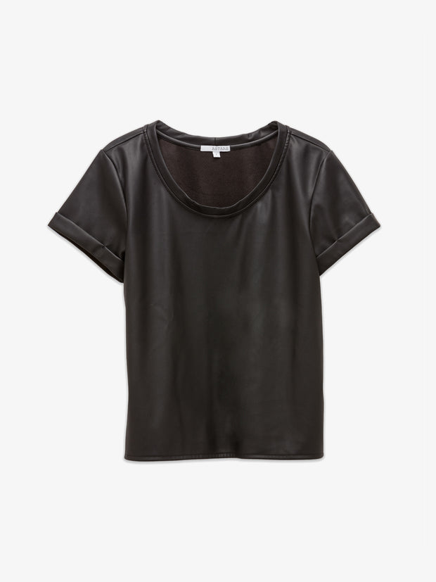 LA Sunset Vegan Leather Baby Tee