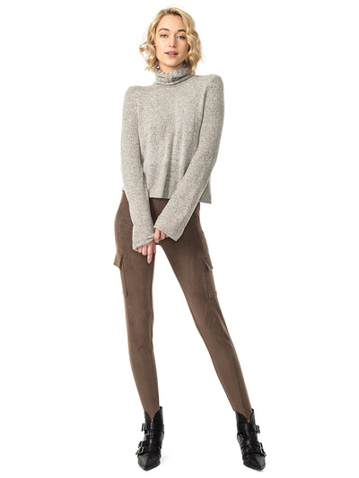 Brigade Vegan Suede Leggings