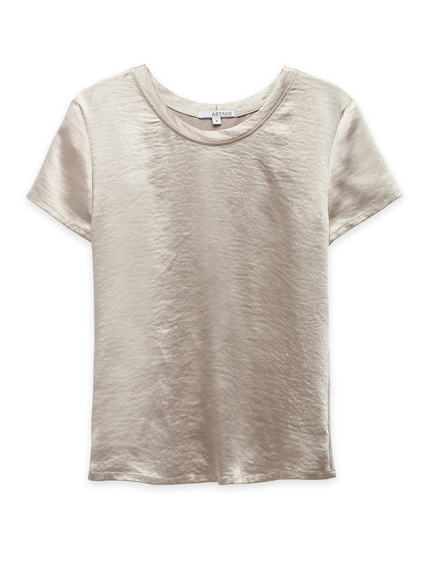 Mimosa Washed Satin Tee