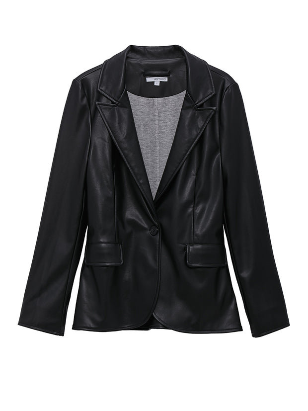 Nightfall Vegan Leather Blazer