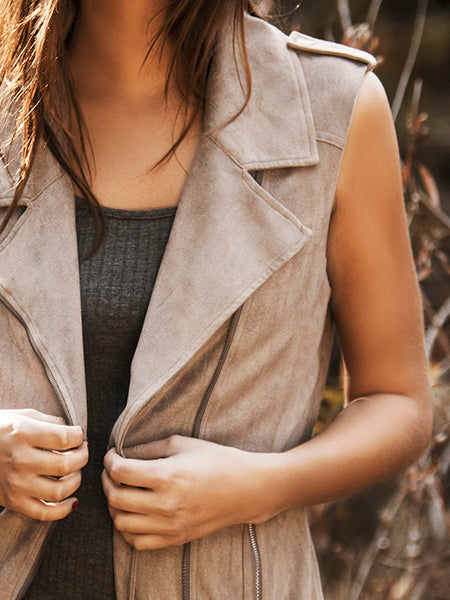 Borderline Vegan Suede Vest