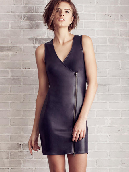 GIRLS NIGHT OUT VEGAN LEATHER DRESS