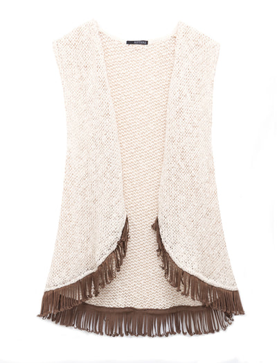 Bonfire Fringe Sweater Vest