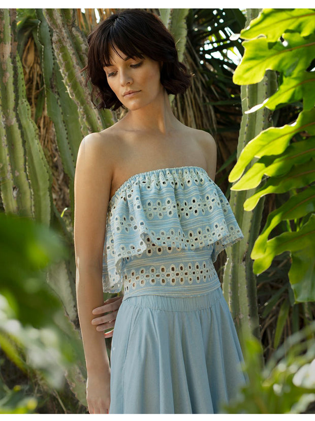 Jamaica Eyelet Top