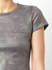 Weightless Vegan Leather Tee