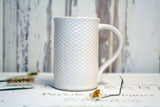 Handmade Pottery Quilted Farmhouse Mug