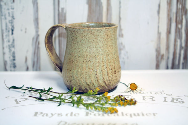 Mottled Cream and Brown Mug