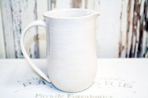 White Farmhouse Handmade Pottery Pitcher