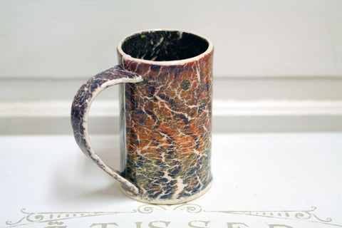 Flower Cracks Grunge Handmade Pottery Mug