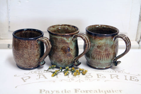 Handmade Pottery Goldilocks Mug Set