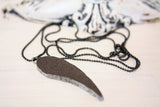Angel Wing Necklace Whitewash