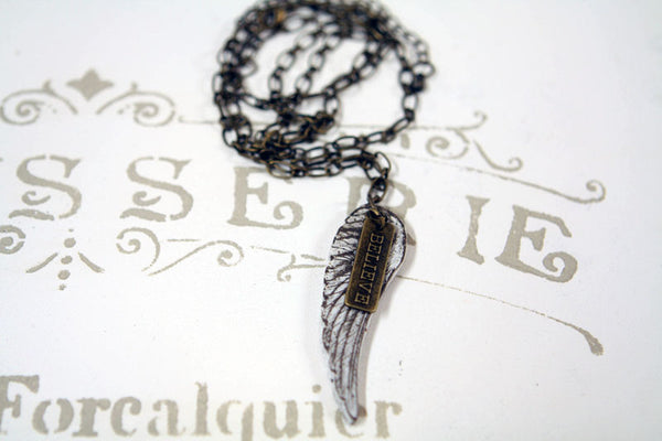 Angel Wing Believe Necklace