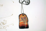Sunset in the Appalachian Mountains Diffuser Necklace