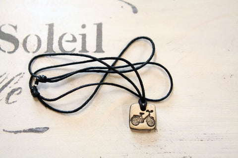 Tiny Bicycle Necklace