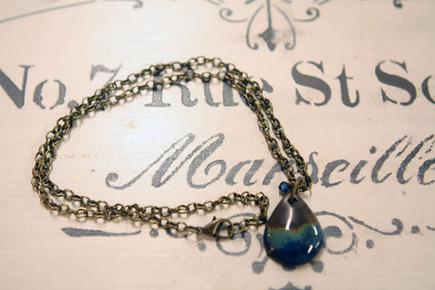 Blue Teardrop Necklace