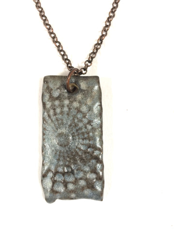 Blue Gray Burst Diffuser Necklace