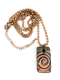 Pink Chocolate Swirl Necklace