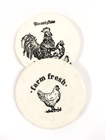 Farm Fresh Coasters - set of 2