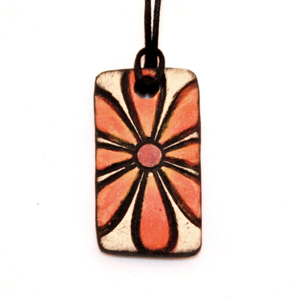Orange Flower Essential Oil Diffuser Necklace