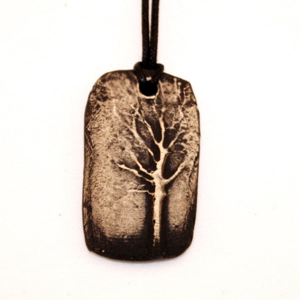 Tree of Life B & W Essential Oil Diffuser Necklace