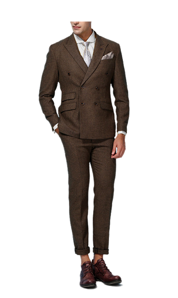 Harris Tweed Brown Suit