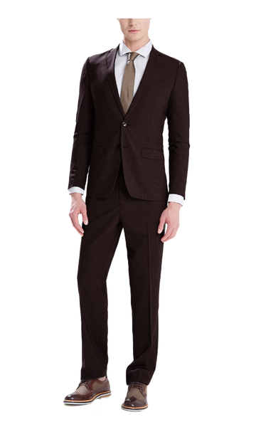 Dark Brown Stripe Suit