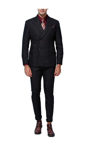 Harris Tweed Dark Gray Suit