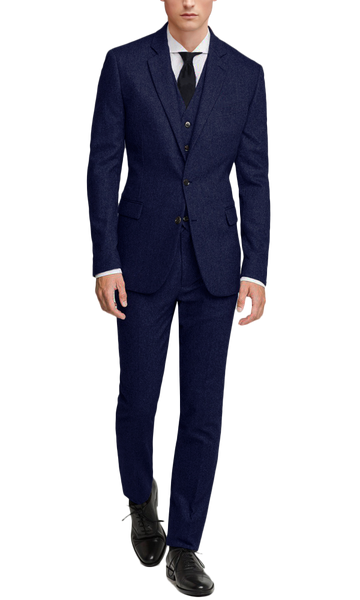 Tweed Dark Navy Suit