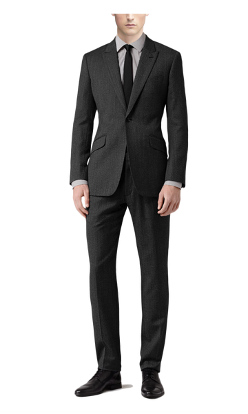 Dark Gray Herringbone Suit