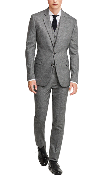 Flannel Light Gray Suit