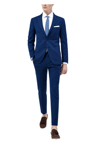 Midnight Blue Linen Cotton Suit