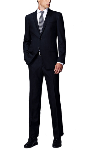 Dark Navy Herringbone Suit