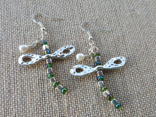Dragonfly Abstract Earrings