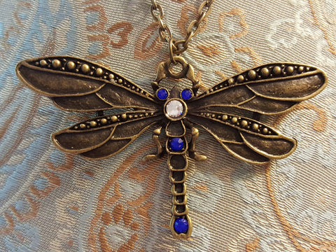Bronze Dragonfly Necklace
