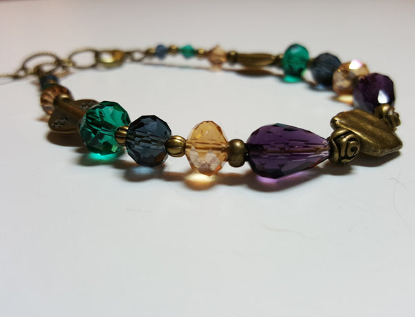 Fall Dragonfly Bronze Bracelet